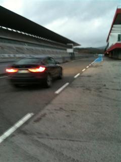 Heading down Pitlane Autodromo do Algarve