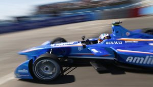 Amlin Aguri racecar driven by Antonio Felix da Costa in Punta del Este, December 2014
